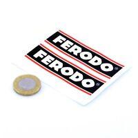 Ferodo Brakes Stickers Classic Car Motorbike Racing Vinyl Decals 75mm x2
