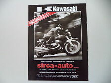 advertising Pubblicità 1975 MOTO KAWASAKI 400 MACH II S3 J
