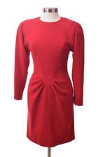 Oscar De La Renta Red Long Sleeve Work  Dress Size 10