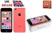 New iPhone 5c Pink 16GB Apple Brand Unlocked Sim Free Smart Phone Sealed Boxed