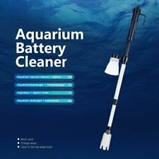Aquarium Electric Siphon Vacuum Cleaner Battery Powered Fish Tank Gravel Washer