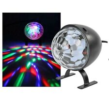 PROIETTORE LED DJ LASER LIGHT CRYSTAL MAGIC BALL USB LAMPADA ROTANTE RGB