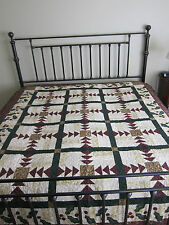 GORGEOUS Handmade Thimbleberries Finished Christmas Winter  Quilt 78 x 84 QUEEN