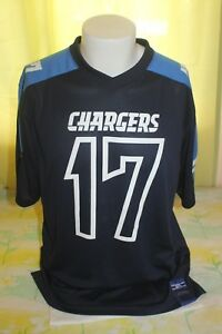 Philip Rivers Majestic San Diego Chargers Men's Blue Jersey Size Large #17