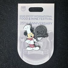Disney Epcot Food And Wine 25th Anniversary Chef Mickey Pin Le 3500 New