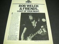 Bob Welch & Friends Light Up Your Night original 1982 Promo Poster Ad mint cond.