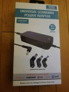 Universal Soundbar Power Adapter 15V-24V Variable Voltage AC Power Supply 90watt