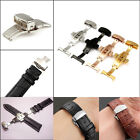 New Double Push Button Fold Butterfly Deployment Watch Bands Strap Clasp Buckle