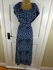 Marks & Spencer Blue Floral Maxi Dress, UK 18, New Without Tags