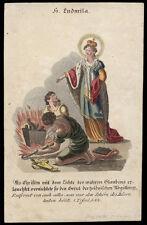 santino incisione 1800 S.LUDMILLA DI BOEMIA  dip.a mano PACHMAYER