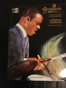 """""""Brushworks"""" by Clayton Cameron, drumming book and CD, NEW!"""