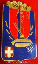 IN6176 - INSIGNE 58° Régiment d'Artillerie, fixation épingle à bascule