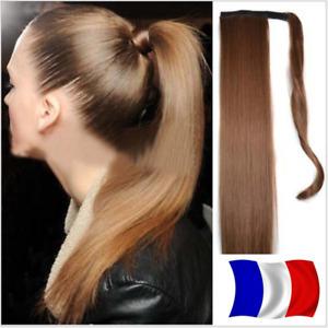 Queue de Cheval Postiche Extensions de Cheveux Wrap Around Ponytail Clip Lisse