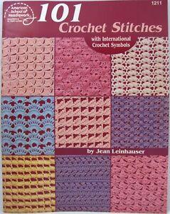 American School of Needlework 101 Crochet Stitches Pattern Book Jean Leinhauser