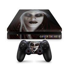 Gothic Girl Ps4 Slim Gaming Skin Custom made to order Vinyl Sticker Decals, Uk