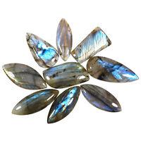9 Pcs Natural Labradorite Magnificent Loose Cabochon Gems Wholesale 32mm-40mm