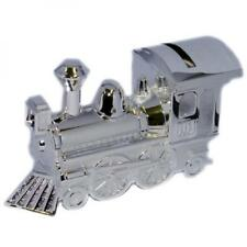 Silver Plated Train Locomotive Money Box Christening Special Occasion Gift