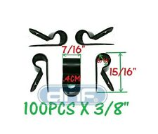 """100 PACK 3/8"""" BLACK NYLON CABLE CLAMP UV WEATHER RESISTANT - SHIPS FREE TODAY!"""