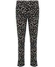 Slim, Skinny, Treggins Floral Regular Size Pants for Women