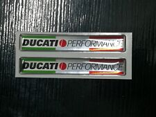 2 adesivi per tutte le ducati in resina gel 3D DUCATI performance new cromo