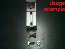 Aluminum T-slot profile 8T-40 drop-in T-studs-bolts-screws M8x20mm +nuts, 16-set