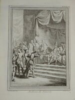 CHEDEL COCHIN GRAVURE XVIII AUDIENCE ZAMORIN INDE INDIA PORTUGAL Kozhikode 1750