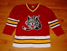New Chicago Wolves Hockey Jersey Burgundy AHL Minors YOUTH LARGE Nice!