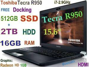 3D-Design TOSHIBA Tecra R950 i7-2.90GHz (512GB SSD + 2TB) 16GB 15.6 Radeon DOCK