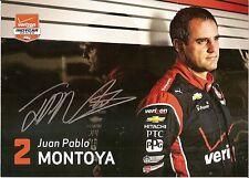 2015 JUAN PABLO MONTOYA signed INDIANAPOLIS 500 PHOTO CARD POSTCARD INDY CAR wCA