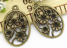 8/30/150pcs Tibetan Silver BeautifulFaceplate Jewelry DIY Charms Pendant 32x22mm