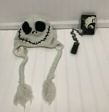 Nightmare Before Christmas Accessories Lot Wallet And Beanie Jack Skellington