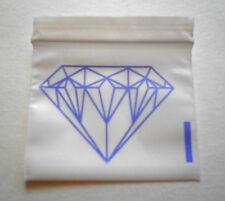 200 Purple Diamond (2x2) Small White Poly Bags (2020) Tiny Ziplock Dime Baggies