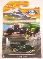 2018 Hot Wheels 29' Green Ford Pickup Truck Antique Classic 7/8