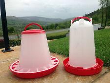 ROBUST 3KG POULTRY FEEDER 3LTR DRINKER CHICKENS QUAIL CHICKS HENS BANTAM WATER