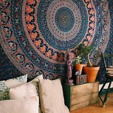 Indian Mandala Tapestry Bohemian Wall Hanging Decor Hippie Twin Bedspread Throw