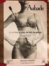 Original Aubade French Lingerie Advertising Sexy Nude 2-sided Poster #125 XLARGE