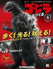 Deagostini Semanal fazer Godzilla Boneco Controle Remoto Escala 1//87 Modelo 60cm No12