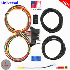 Usa New 8 Circuit Fuse 12V Universal Wire Harness Muscle Car Hot Rod Street Rat