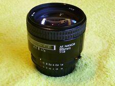 Nikon Nikkor AF 85mm f/1.8  Lens
