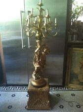Vtg Rare Ornate Figural 1967 PIERI Gilt Hollywood Candelabra 10 Arm Lamp Light