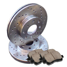 A1021 FITS 2007 2008 2009 2010 2011 HYUNDAI ACCENT Drill Brake Rotors Pads Front