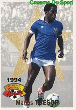 021 LEGENDES MARIUS TRESOR EQUIPE DE FRANCE CARD CARTE FOOTBALL 1994 PANINI