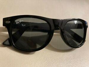 Ray-Ban Junior Kids Unisex RJ9035 Wayfarer Black Sunglasses w case 44 17 120