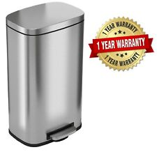 iTouchless SoftStep 8 Gallon Stainless Steel Step Trash Can, 30 Liter
