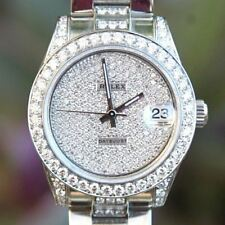 Rolex 31mm 178240 Diamond Lugs Pave dial Bezel 18k gold Pearlmaster 81339 80299