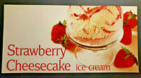 Vintage Ice Cream Parlor Diner Strawnerry Shortcake Ice Cream Paper Sign New