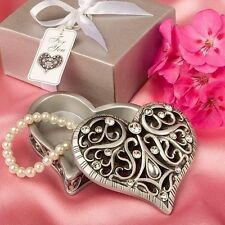72 Exquisite Heart Shaped Curio Box Wedding Favors
