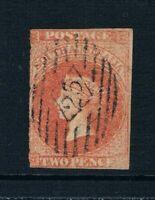 South Australia 1856 - 2d QV Portrait - Imperf - Blood Red -SC 6 [SG 8] USED A3
