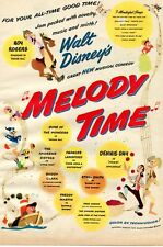 1948 Print Ad of Walt Disney Melody Time Roy Rogers Dennis Day Donald Duck