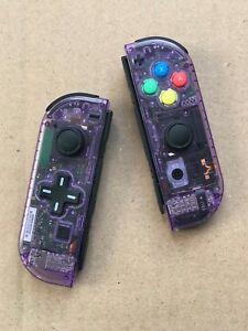 Nintendo Switch Custom Joy Con Controller Joy-Cons Clear Atomic Purple D-PAD NEW